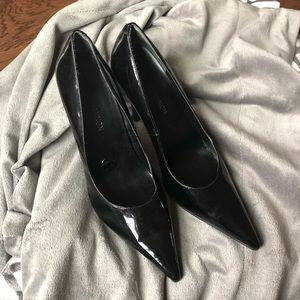 Michael Shannon Black Leather Patten Heels